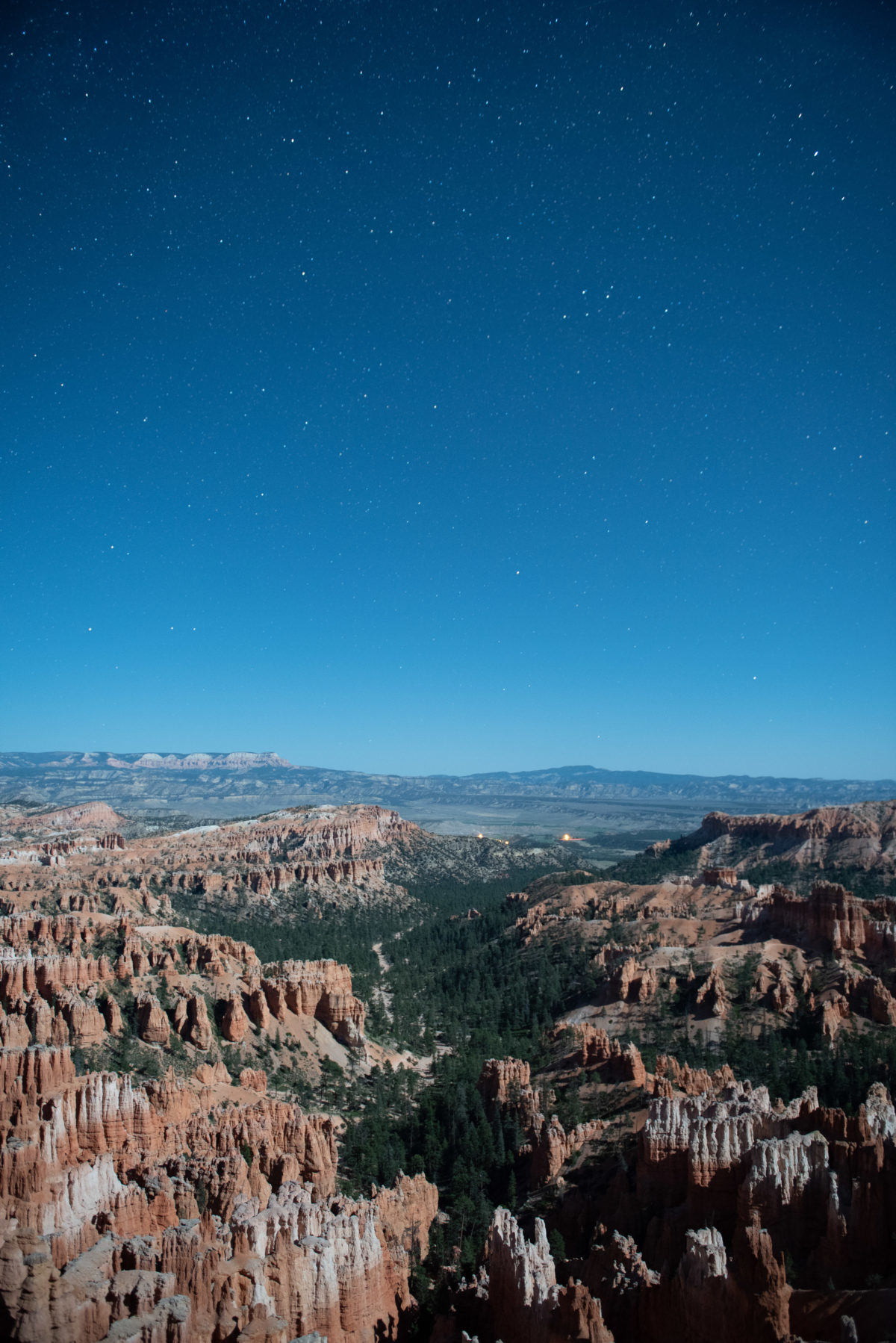Bryce Canyon by Moonlight, Long Exposure